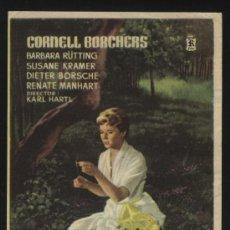 Cine: P-1750- AMOR IMPOSIBLE (SIN DISTRIBUIDORA) CORNELL BORCHERS - DIETER BORSCHE - BARBARA RÜTTING. Lote 21803218