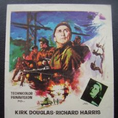 Folhetos de mão de filmes antigos de cinema: LOS HEROES DE TELEMARK, KIRK DOUGLAS, RICHARD HARRIS. Lote 37516346