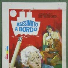 Cine: ASESINATO A BORDO MARGARET RUTHERFORD AGATHA CHRISTIE PROGRAMA PRUEBA DE IMPRENTA CARTEL . Lote 37601140