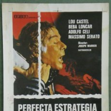 Cine: PERFECTA ESTRATEGIA CRIMINAL GIUSEPPE VARI LOU CASTEL GIALLO PROGRAMA PRUEBA DE IMPRENTA CARTEL . Lote 37602745