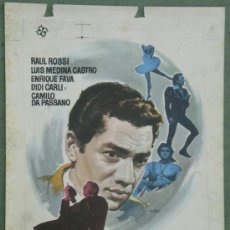 Cine: EL DELANTERO CENTRO MURIO AL AMANECER RENE MUGICA RAUL ROSSI FUTBOL PROGRAMA PRUEBA IMPRENTA CARTEL. Lote 37602867