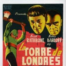 Cine: LA TORRE DE LONDRES, CON BORIS KARLOFF.. Lote 37643713