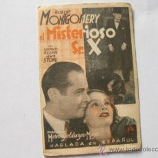 Cine: EL MISTERIOSO SR. X - ROBERT MONTGOMERY. Lote 37663141