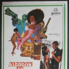 Flyers Publicitaires de films Anciens: ALGODÓN EN HARLEM, FM, SIN PUBLICIDAD (2196) ,CONSERVACION:. Lote 37671838