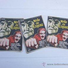 Cine: 11 PROGRAMAS IMPECABLES NIDO DE ESPIAS ROGER HANIN, CHARLES VANEL. Lote 120494902