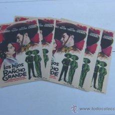 Cine: 22 PROGRAMAS IMPECABLES LOS HIJOS DE RANCHO GRANDE. TITO GUIZAR.. Lote 37714675