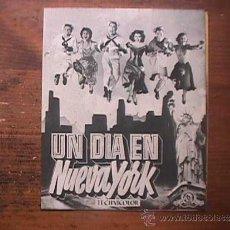 Folhetos de mão de filmes antigos de cinema: UN DIA EN NUEVA YORK, GENE KELLY, FRANK SINATRA, CINE CAPITOL, LAS PALMAS G. C.. Lote 37736722