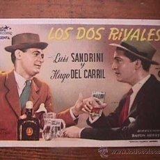 Cine: LOS DOS RIVALES, LUIS SANDRINI, HUGO DEL CARRIL, CINE AVELLANEDA, LAS PALMAS G. C.. Lote 37737128