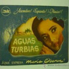 Cine: PROGRAMA DOBLE TROQUELADO AGUAS TURBIAS .-MERLE OBERON. Lote 37815197