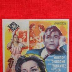 Cine: CARA DE GOMA COMA IMPECABLE SENCILLO 1960 MANUEL GODOY Mª ANGELES GIORDANO, CON PUBLICIDAD CINE ROXY. Lote 37873168