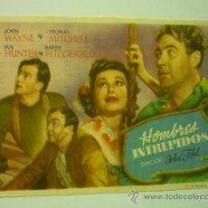 Cine: PROGRAMA HOMBRES TEMERARIOS- JOHN WAYNE -PUBLICIDAD. Lote 37954210