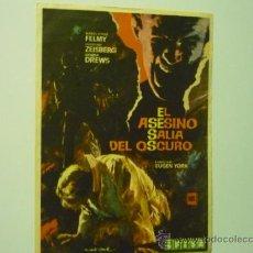 Cine: PROGRAMA EL ASESINO SALIA DEL OSCURO.-. Lote 37954246
