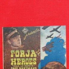 Cine: FORJA DE HEROES, IMPECABLE DOBLE ORIGINAL, PAUL HARTMANN JUTTA FREYBE, SIN PUBLICIDAD. Lote 37954658