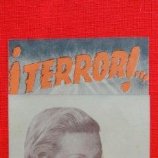 Cine: TERROR, DOBLE 1944, EXCTE. ESTADO, LAURA SOLARI ANDRÉS ENGELMAN, CON PUBLICIDAD PRINCIPAL CINEMA. Lote 37956058
