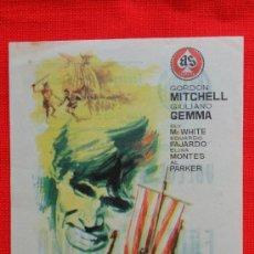Cine: ERIK EL VIKINGO, SENCILLO 1965 EXCLNTE ESTADO GORDON MITCHELL GIULIANO GEMMA, CON PUBLICIDAD AVENIDA. Lote 37968378