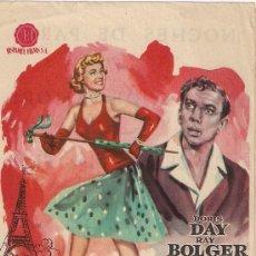 Cine: FOLLETO DE MANO - ABRIL EN PARIS. CINE PALAFOX ZARAGOZA 1956. Lote 37973637