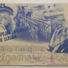 Kino - SIGAMOS LA FLOTA - PROGRAMA DE MANO DOBLE - AÑO 1936 - 38034937