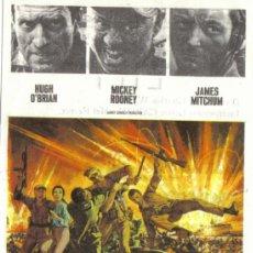 Cine: FOLLETO DE MANO- EMBOSCADA EN LA BAHIA- MICKEY ROONEY,JAMES MITCHUM-CON PUBLICIDAD-1968.. Lote 38036403