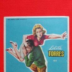 Cine: AMOR A PRIMERA VISTA, SENCILLO ORIGINAL GRANDE, LOLITA TORRES, SIN PUBLICIDAD. Lote 38038696