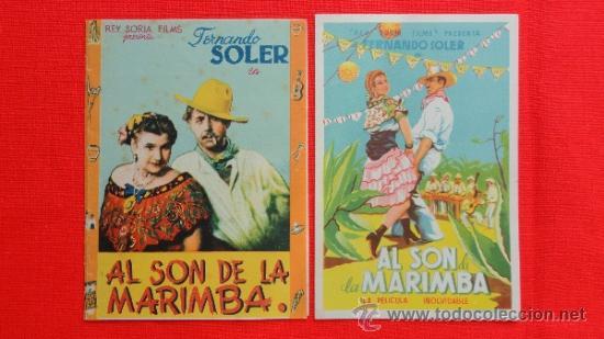 AL SON DE LA MARIMBA, 2 PROG, 1 DOBLE CANCIONERO CON PUBLI 1 SENCILLO IMPECABLE ORIGINAL (Cine - Folletos de Mano - Musicales)