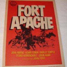 Cine: PROGRAMA O PASE FORT APACHE JOHN WAYNE HENRY FONDA NO ESCRITA. Lote 38079954