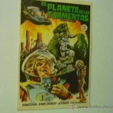 Foglietti di film di film antichi di cinema: PROGRAMA EL PLANETA DE LAS TORMENTAS -. Lote 38099958