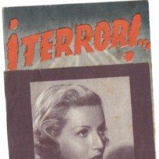 Cine: FOLLETO DE MANO DOBLE- ¡TERROR! - LAURA SOLARI.. Lote 38172663
