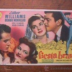 Cine: FIESTA BRAVA, ESTHER WILLIAMS, RICARDO MONTALBAN, CINE AVELLANEDA, LAS PALMAS G. C.. Lote 38218029