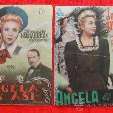 Cine: ANGELA ES ASI, 2 DOBLES 1945, ROSITA HERNÁN FERNANDO FDEZ CÓRDOBA, CON PUBLI ESPAÑA Y PROYECCIONES. Lote 38225451