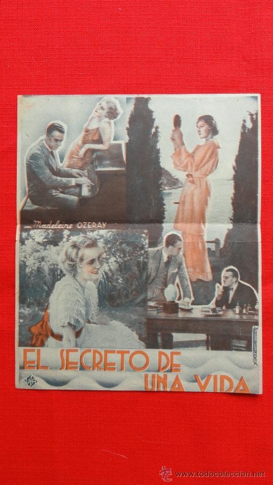 Cine: EL SECRETO DE UNA VIDA, DOBLE EXCTE. ESTADO, BRIGITTE HELM JEAN MURAT, CON PUBLI CINEMA METROPOL - Foto 2 - 38406610