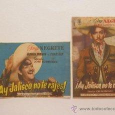 Cine: AY, JALISCO NO TE RAJES - PROGRAMA DE MANO SENCILLO - 2 DIFERENTES - PELICULA AÑO 1941. Lote 38463006