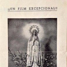 Cine: FÁTIMA EN EL AÑO SANTO-PROGRAMA DOBLE-1951-ENTREVISTAS TESTIGOS APARICIÓN- SIN PUBLICIDAD. Lote 38477484