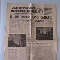 Cine: EL ALMIRANTE CANARIS - FOLLETO DE MANO ORIGINAL ESTRENO EN FORMATO HOJA DE PERIODICO MUY RARO. Lote 38558426