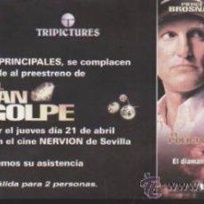 Cine: EL GRAN GOLPE. PROGRAMA INVITACIÓN AL PREESTRENO. CINE NERVIÓN - SEVILLA.. Lote 38596119