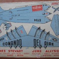 Cine: FOLLETO RECORTABLE - COMANDO DEL AIRE - JAMES STEWART - ANTONY MANN OSCAR DE HONOR 1954. Lote 38611059