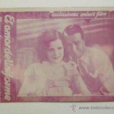 Folhetos de mão de filmes antigos de cinema: EL AMOR DE UNIFORME - PROGRAMA DE MANO / TARJETA - AÑO 1933. Lote 38632850