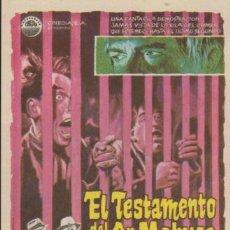 Cine: EL TESTAMENTO DEL DR. MABUSE. SENCILLO DE CINEDIA. ¡IMPECABLE!. Lote 38645731