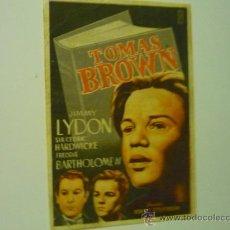 Cine: PROGRAMA TOMAS BROWN.- PUBLICIDAD. Lote 38648802