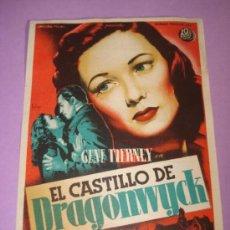 Cine: PROGRAMA CINE EL CASTILLO DE DRAGONWYCK DEL CENTRAL CINEMA DE TIBI DEL AÑO 1949. Lote 38676165