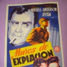 Cine: PROGRAMA CINE *MUROS DE EXPIACIÓN * DEL CENTRAL CINEMA DE TIBI DEL AÑO 1949. Lote 38676189