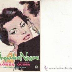 Cine: ORQUIDEA NEGRA. ANTHONY QUINN Y SOPHIA LOREN. Lote 38662119