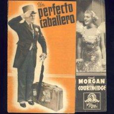 Folhetos de mão de filmes antigos de cinema: UN PERFECTO CABALLERO. DOBLE. FRANK MORGAN, CICELY COURTNEIDGE. Lote 38695510