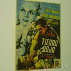 Cine: PROGRAMA TIERRAS BAJA.-ZULLY MORENO -PEDRO ARMENDARIZ PUBLICIDAD. Lote 38708433