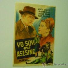 Cine: PROGRAMA YO SOY MI ASESINO - SELLO CINE ROYALTY-SIRUELA BADAJOZ. Lote 38782070