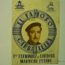 Cine: PROGRAMA DOBLE EL FAMOSO CARBALLEIRA.- MARUCHI FRESNO. Lote 38782110
