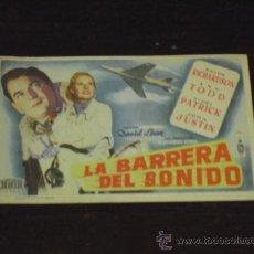 Cine: LA BARRERA DEL SONIDO - RALPH RICHARDSON- ANN TOOD - CINE DORADO 1953 -. Lote 38857712