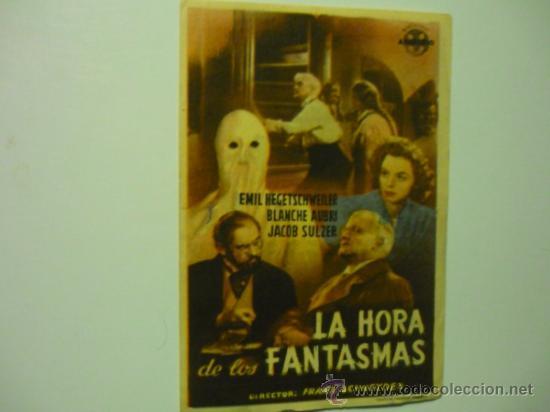 PROGRAMA LA HORA DE LOS FANTASMAS-PUBLICIDAD (Cine - Folletos de Mano - Suspense)