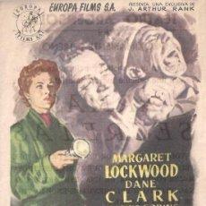 Cine: FOLLETO DE MANO - ARMAS SECRETAS. TEATRO ARGENSOLA ZARAGOZA 1955. Lote 38986080