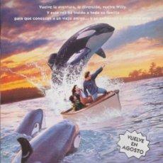 Cine: LIBERAD A WILLY 2. SENCILLO DE WB.. Lote 38996689