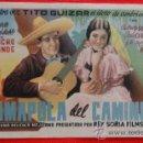 Cine: AMAPOLA DEL CAMINO, SENCILLO ORIGINAL, EXCTE. ESTADO,TITO GUIZAR ANDREA PALMA, SIN PUBLICIDAD. Lote 39023502